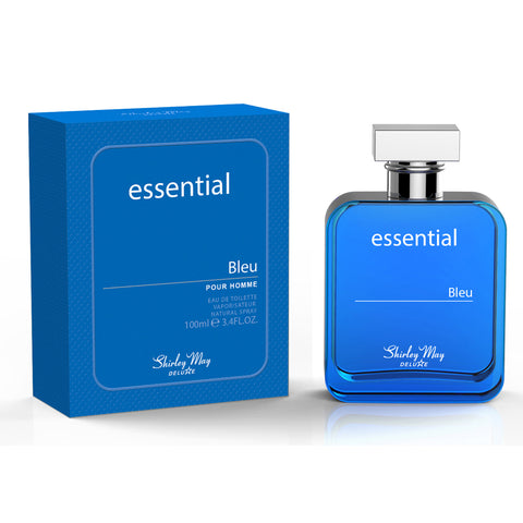 Essential Bleu for Men EDT - 100 ML (3.4 oz) by Shirley May - Intense oud