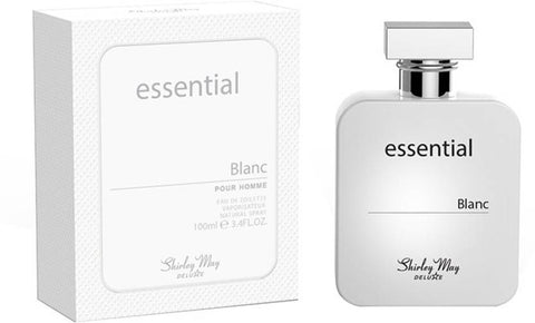 Essential Blanc for Men EDT - 100 ML (3.4 oz) by Shirley May - Intense oud
