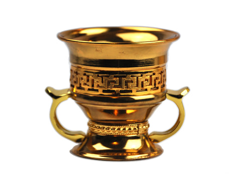 Arab Incense Bakhoor Burner Golden - 4 inch by Intense Oud