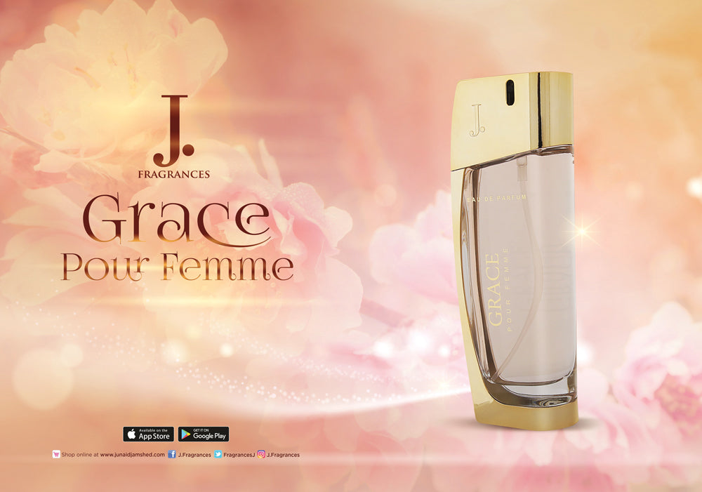 Grace for Women EDP- 100 ML (3.4 oz) by Junaid Jamshed - Intense oud