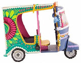 Decorative Miniature Rickshaw Collectible Handmade Truck Art Pakistan Art (5 inch) - Intense oud