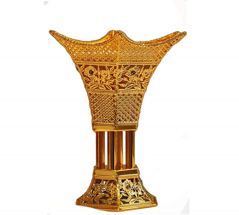 Arab Incense Bakhoor Burner - 6 inch Golden by Intense Oud