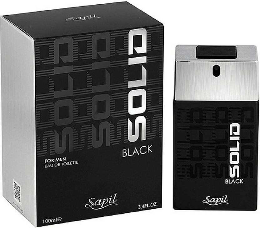 Solid Black for Men EDT - 100 ML (3.4 oz) by Sapil - Intense oud