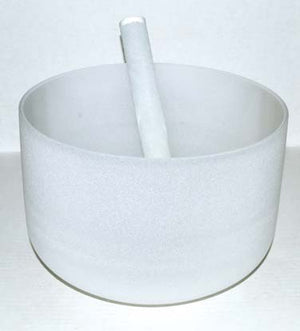 "10"" Off White Crystal Singing Bowl"