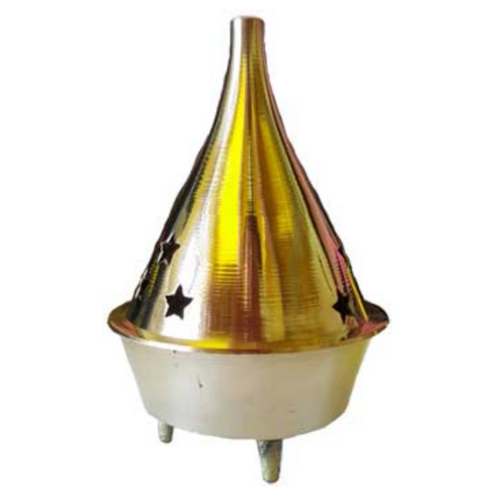 "3"" Brass cone and Resin incense Burner"