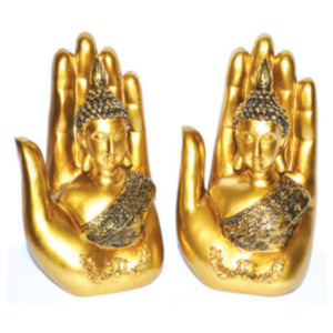 "7"" Buddha in Hand (set of 2)"
