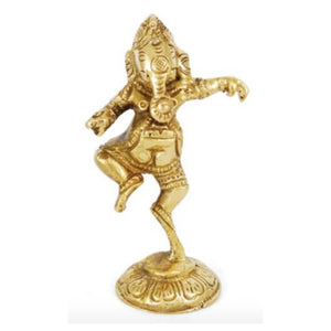 Brass Ganesh Shrine 3 1/2""