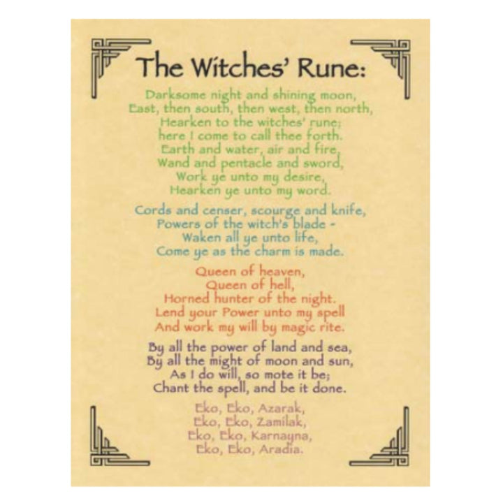 Witches' Rune poster