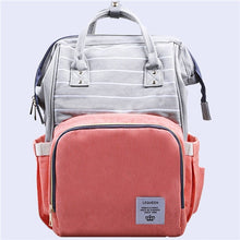 Load image into Gallery viewer, Lequeen Stripe Diaper Bag Backpack Designer Nursing Care Baby Bag Travel Nappy Bag Organizer Waterproof Maternity Patchwork Bag