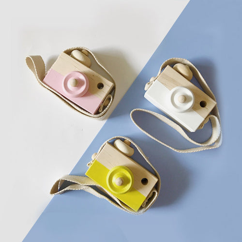 Cute Wooden Toys Camera Baby Kids