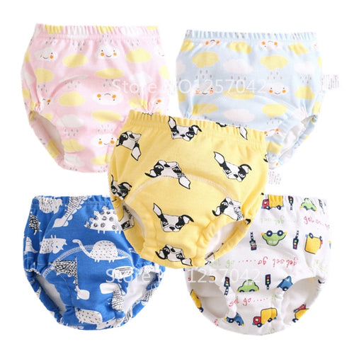 Thick Baby Cotton Training Pants Panties Waterproof Cloth Diapers Reusable Toolder Nappies Diaper Baby Underwear Washable Winter