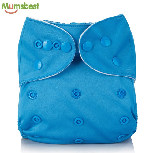 [Mumsbest] Reusable Baby Cloth Diaper washable Solid Color Baby Nappy One Size Adjustable Many Colors Available Cloth Diapers