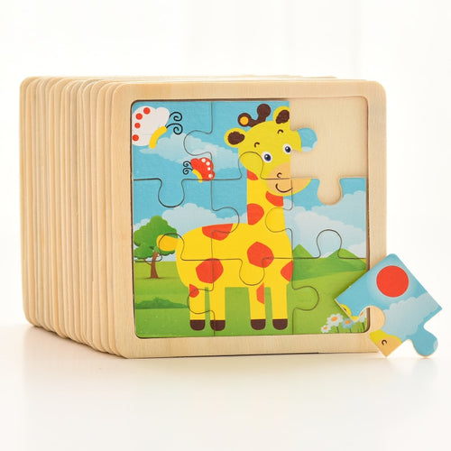 1PCS 3D Paper Jigsaw Puzzles for Children Kids Toys for Children Baby Toys Educational Puzles
