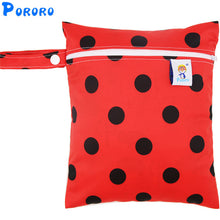 Load image into Gallery viewer, Printed Pocket Wet Bag Waterproof Reusable Nappy Bags PUL Travel Baby Nappy Mini Size Wet Dry Bags Wetbags 25x20cm Wholesale