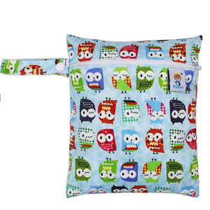 Printed Pocket Wet Bag Waterproof Reusable Nappy Bags PUL Travel Baby Nappy Mini Size Wet Dry Bags Wetbags 25x20cm Wholesale