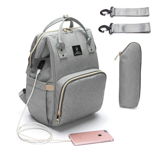 Diaper Bag USB Large Capacity Nappy Bag Waterproof Maternity Travel Backpack Designer Nursing Bag Baby Care Stroller Handbag