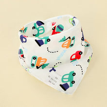 Load image into Gallery viewer, BabyLeila Oklady Baby Bibs Triangle Double Cotton  Bibs Cartoon Print Saliva Towel Baby Boys Girls Feeding Apron Cotton Bandana Bibs