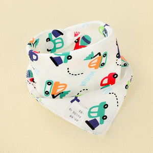BabyLeila Oklady Baby Bibs Triangle Double Cotton  Bibs Cartoon Print Saliva Towel Baby Boys Girls Feeding Apron Cotton Bandana Bibs