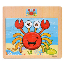 Load image into Gallery viewer, Cartoon Puzzle Jigsaw Early Education Wooden Toys For Kids Animal Traffic Cognition Puzzles Intelligence Toy For Children