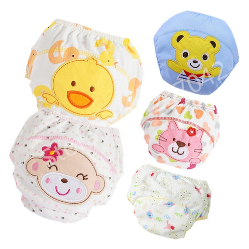 Baby Cotton Training Pants Panties Baby Diapers Reusable Cloth Diaper Nappies Washable Infants Children Underwear Nappy Changing