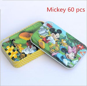 Hot Sale. Disney Frozen Car Disney 60 Slice Small Piece Puzzle Toy Children  Wooden Jigsaw Puzzles Kids Educational Toys for Baby