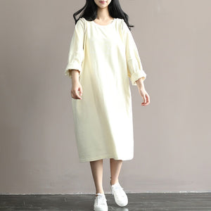 Maternity T-shirt Dress 100% Cotton Dress Clothes For Pregnant Women Dress Tops Long Sleeve Maternity dresses Pregnancy Clothes