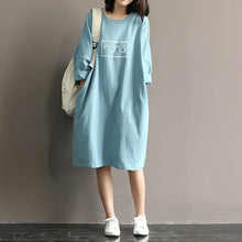 Load image into Gallery viewer, Maternity T-shirt Dress 100% Cotton Dress Clothes For Pregnant Women Dress Tops Long Sleeve Maternity dresses Pregnancy Clothes