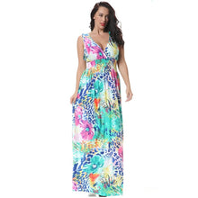 Load image into Gallery viewer, new summer maternity dresses print plus size women's dresses pregnant dresses women's beach and evening dress 16193
