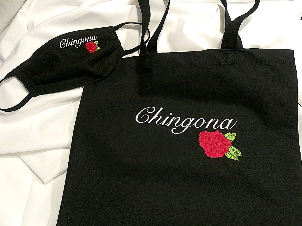 Chola inspired Chingona Mask and Bag Special - Living Firme