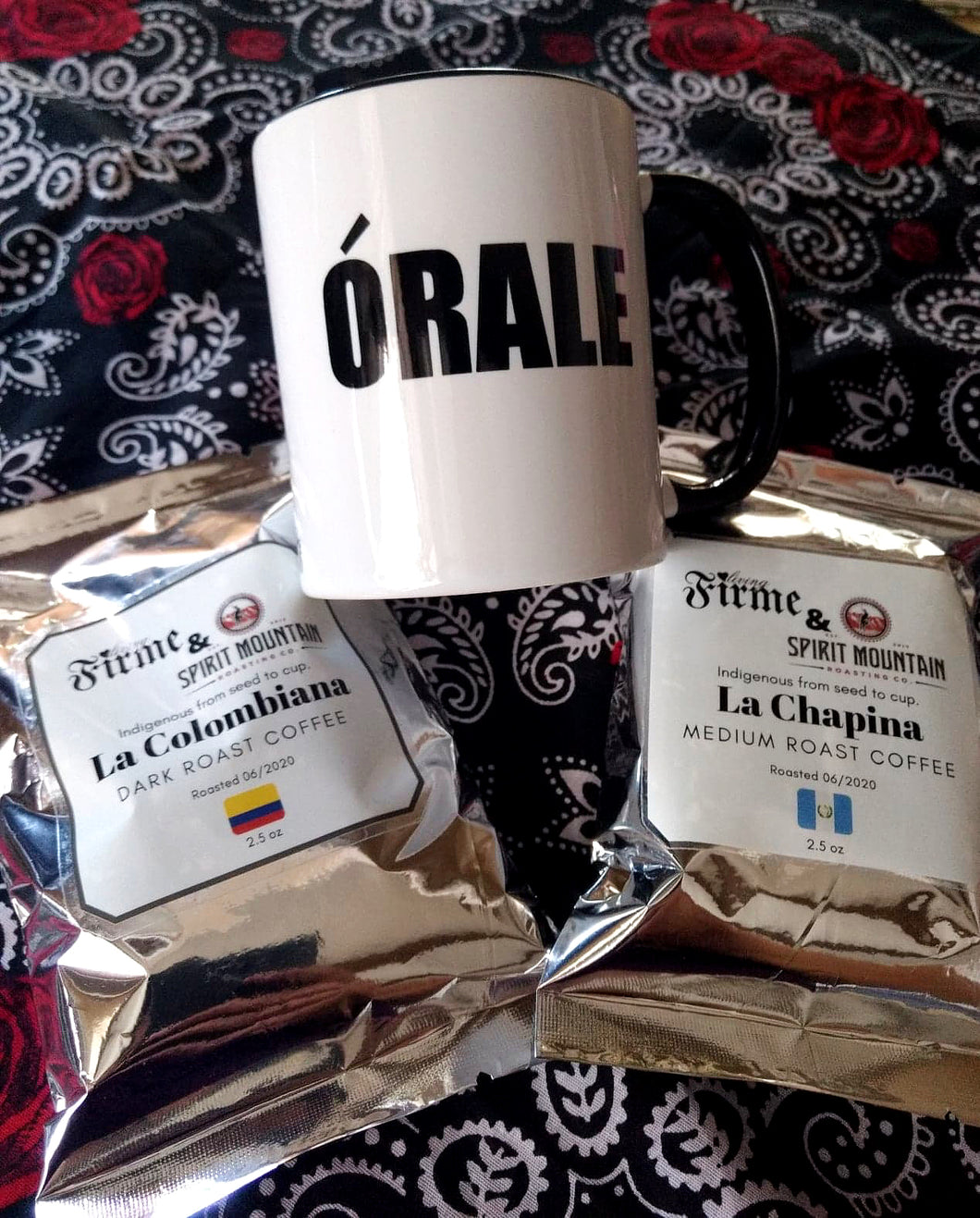 Coffee and Órale Mug Set