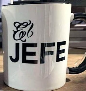 El Jefe Black and White Series Living Firme Inspired by Chicano Culture Coffee Mugs