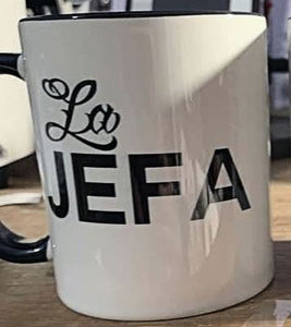 La Jefa Black and White Series Living Firme Inspired by Chicano Culture Coffee Mugs
