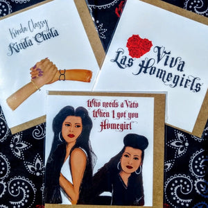 Living Firme Mi Vida Loca and Chola Inspired Greeting Cards - Living Firme