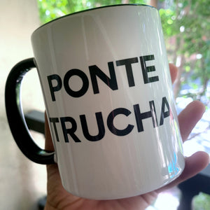 PONTE TRUCHA Black and White Series Living Firme Inspired by Chicano Culture Coffee Mugs