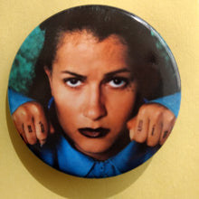 "Load image into Gallery viewer, Sadgirl Mi Vida Loca 2.25"" Round button - Living Firme"