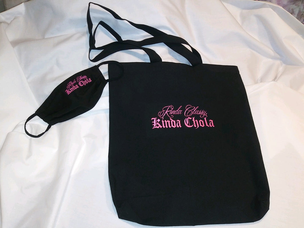 Kinda Classy Kinda Chola Mask and Bag Special