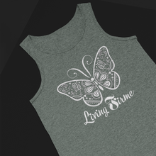 Load image into Gallery viewer, Butterfly Mariposa Bella Canvas Heather Tank Tops