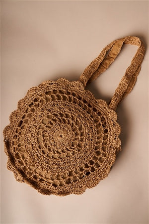Summer Boho Straw Beach Bag