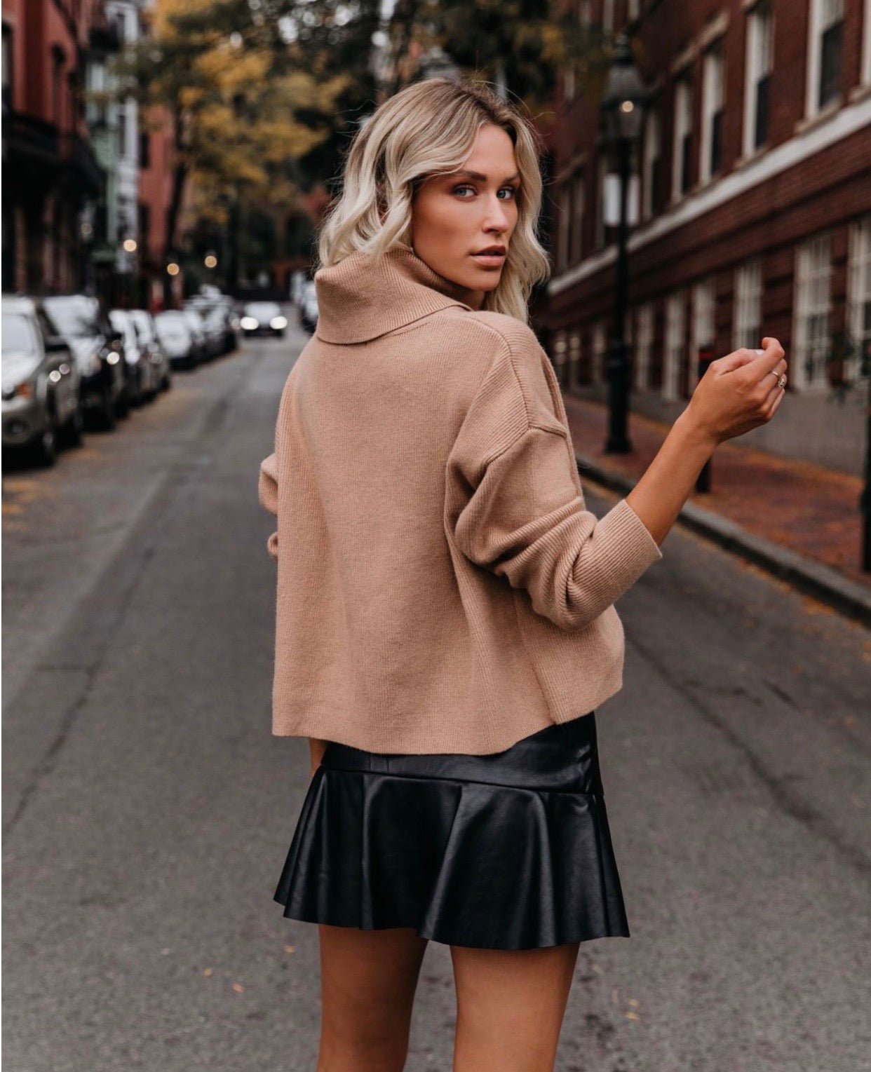 Autumn Faux Leather Skort