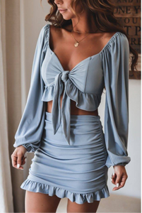Crazy For You Top And Skirt Set