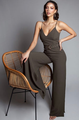 The Angelic Belted Jumpsuit
