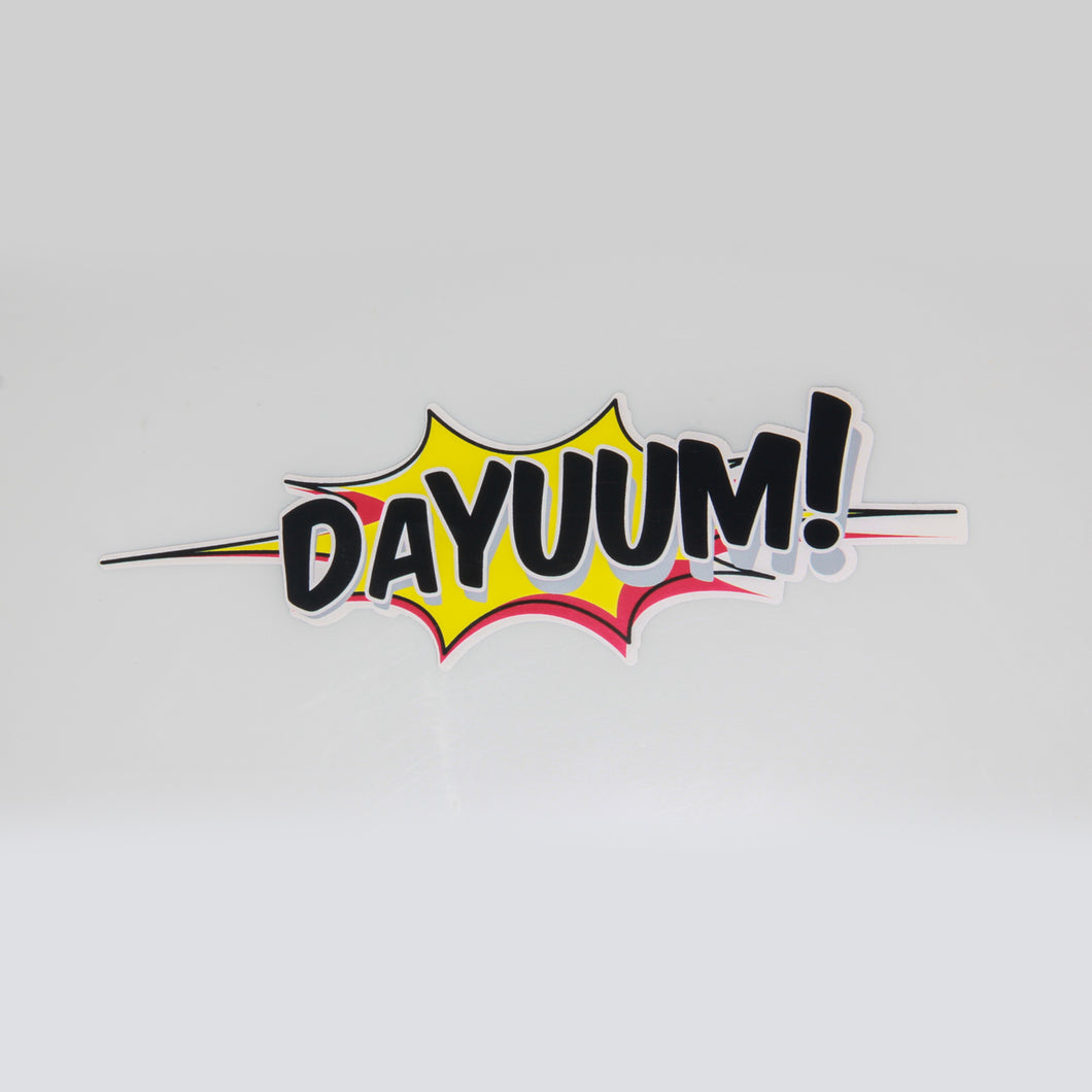 DAYUUM! Splash Decal - 8