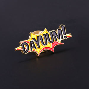 DAYUUM! Splash Logo Lapel Pin