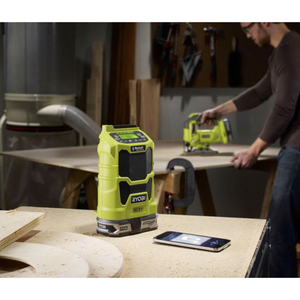 RYOBI P742 18-Volt ONE+ Cordless Compact Radio with Bluetooth Wireless Technology (Tool-Only)
