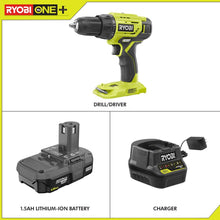 Load image into Gallery viewer, RYOBI 18-Volt ONE+ Lithium-Ion Cordless 1/2 in. Drill/Driver Kit with (1) 1.5 Ah Battery and 18-Volt Charger P215K