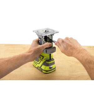 RYOBI 18-Volt ONE+ Cordless Fixed Base Trim Router (Tool Only) with Tool Free Depth Adjustment P601