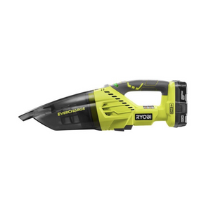 RYOBI P714K 18-Volt Cordless EverCharge Hand Vacuum with Battery and EverCharger