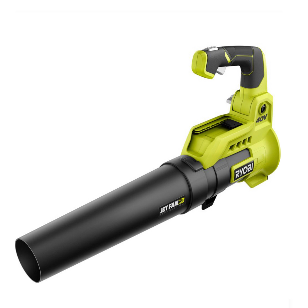 RYOBI RY40408 110 MPH 525 CFM 40-Volt Lithium-Ion Cordless Variable-Speed Battery Jet Fan Leaf Blower (Tool-Only