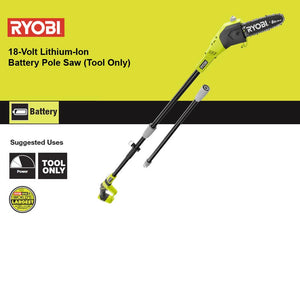RYOBI ONE+ 8 in. 18-Volt Lithium-Ion Battery Pole Saw (Tool Only) P4360BT