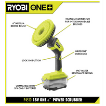 Load image into Gallery viewer, Ryobi P4510 18-Volt ONE+ Cordless Telescoping Power Scrubber (Tool Only)
